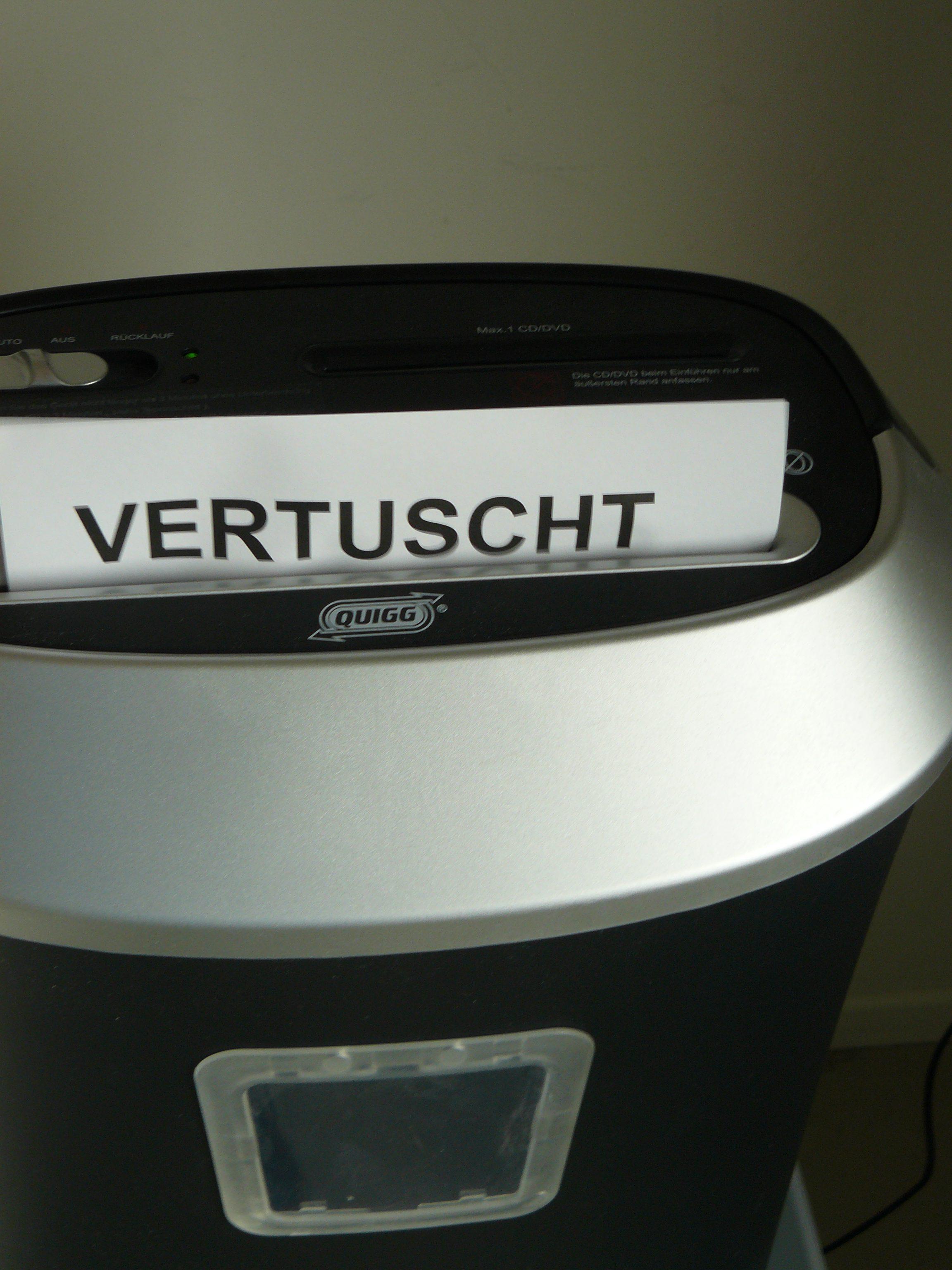 VERTUSCHT - DER WETTBEWERB